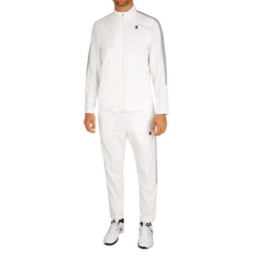 Nike Court Woven Warm Up Tracksuit Men - White, Lightgrey