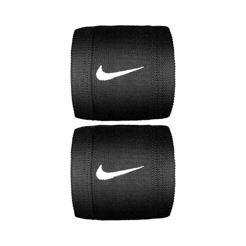 Nike Dri-Fit Reveal Wristband 2 Pack - Black, White