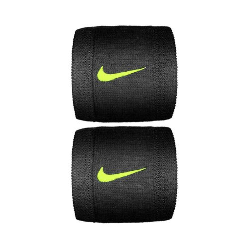 Nike Dri-Fit Reveal Wristband 2 Pack - Black, Neon Yellow