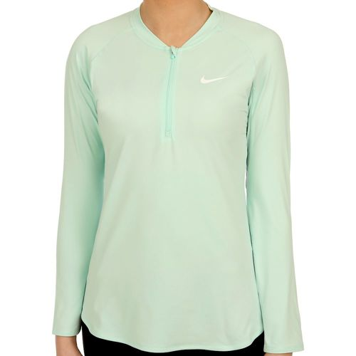 Nike Court Pure Half-Zip Long Sleeve Women - Mint, White