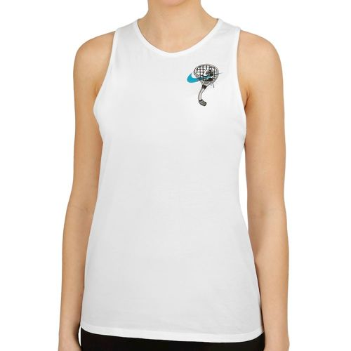 Nike Court Heritage Graphics Quickstrike Tank Top Women - White, Multicoloured