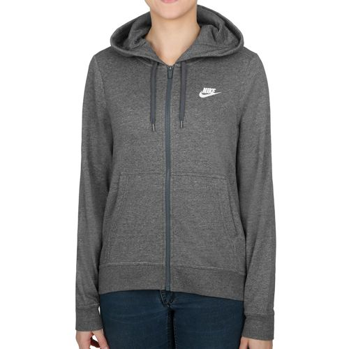 Nike Sportswear Hoody Women - Dark Grey, White