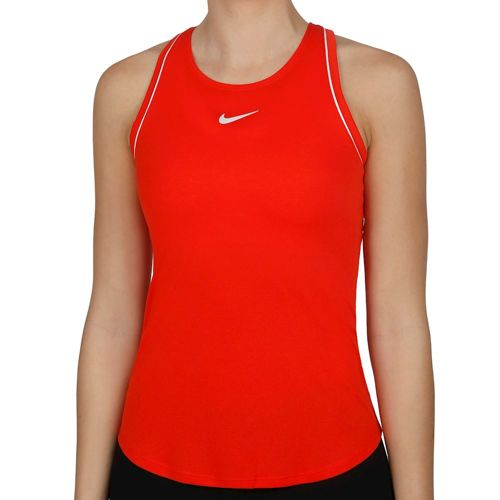 Nike Court Dry Tank Top Women - Red, White