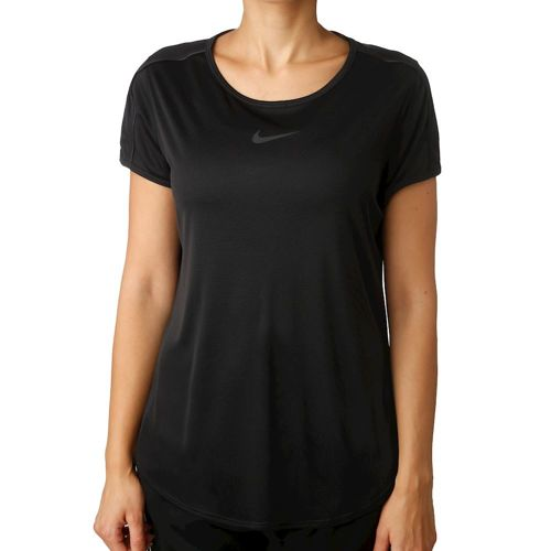 Nike Court Dry T-Shirt Women - Black, White
