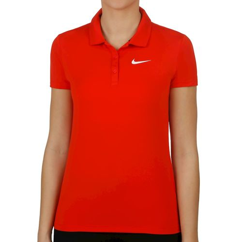 Nike Court Pure Polo Women - Red, White