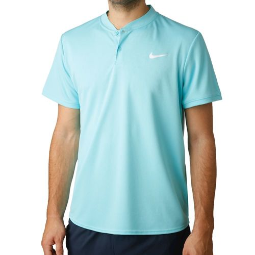 Nike Court Dry Polo Men - Turquoise, White