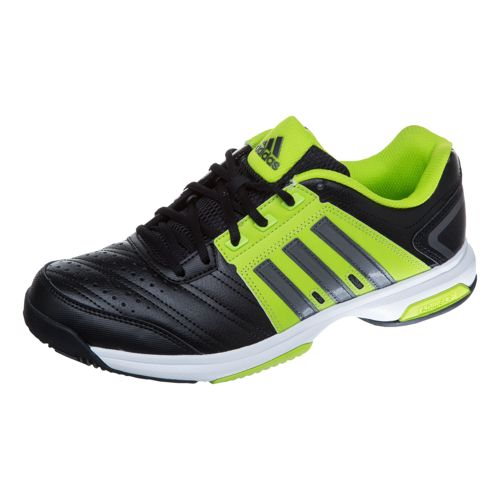 adidas Barricade Approach Stripes All Court Shoe Men - Black, Lime