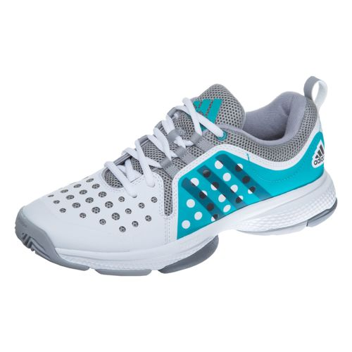 adidas Barricade Classic Bounce All Court Shoe Women - White, Petrol