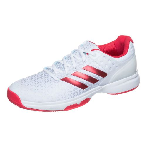 adidas Adizero Ubersonic 2 All Court Shoe Women - White, Neon Red