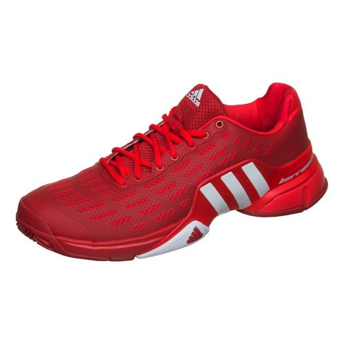 adidas Barricade All Court Shoe Men - Neon Red, White
