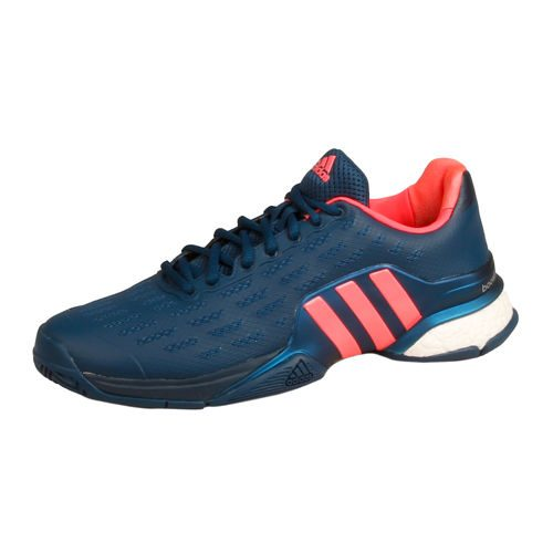 adidas Barricade Boost All Court Shoe Men - Dark Blue, Neon Red