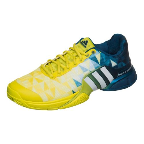 adidas Barricade All Court Shoe Men - Light Green, White