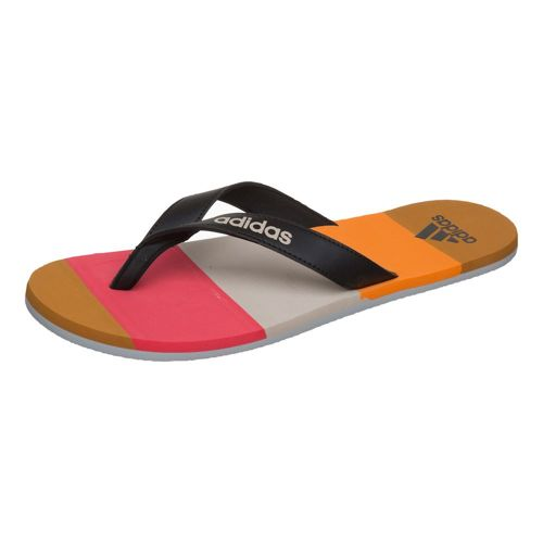 adidas Eezay Striped Flip-flops Men - Red, Black