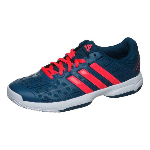 adidas Barricade Club XJ All Court Shoe Kids - Dark Blue, Neon Red