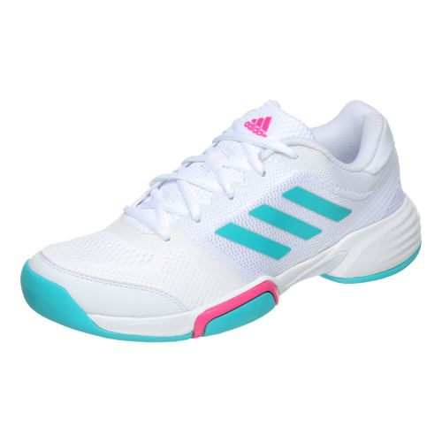 adidas Barricade Club Carpet Shoe Women - White, Turquoise