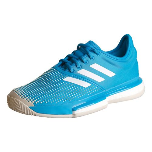 adidas Sole Court Boost Clay Court Shoe Women - Blue, White