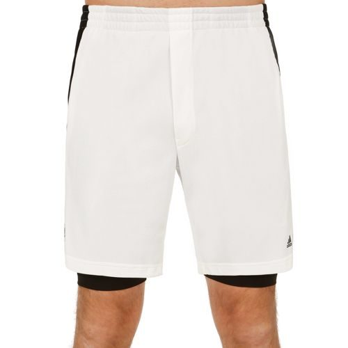 adidas Roland Garros Jo-Wilfried Tsonga Y-3 Player Shorts Men - White, Black