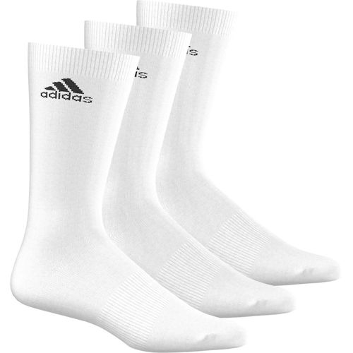 adidas Performance Crew Thin Sports Socks 3 Pack - White, Black