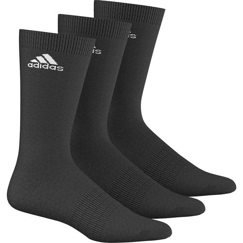adidas Performance Crew Thin Pack Tennis Socks 3 Pack - Black