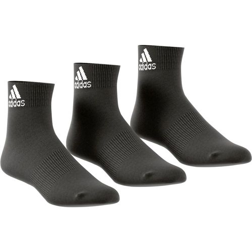 adidas Performance Ankle Thin Sports Socks 3 Pack - Black