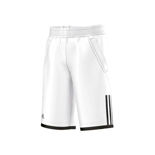 adidas Club Shorts Boys - White, Black