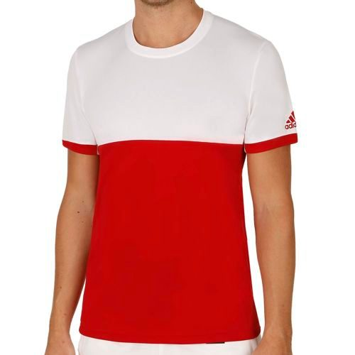 adidas Climacool T16 Shortsleeve T-Shirt Men - Red, White
