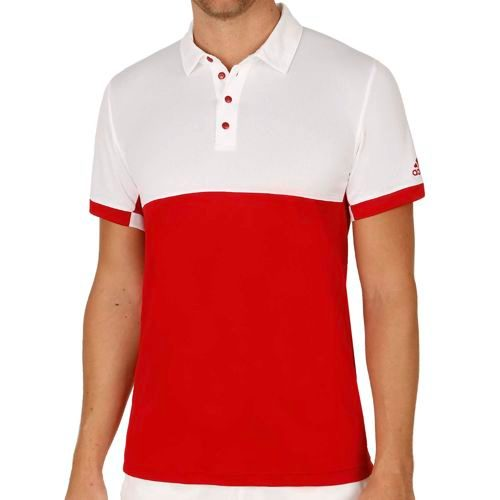 adidas Climacool T16 Polo Men - Red, White