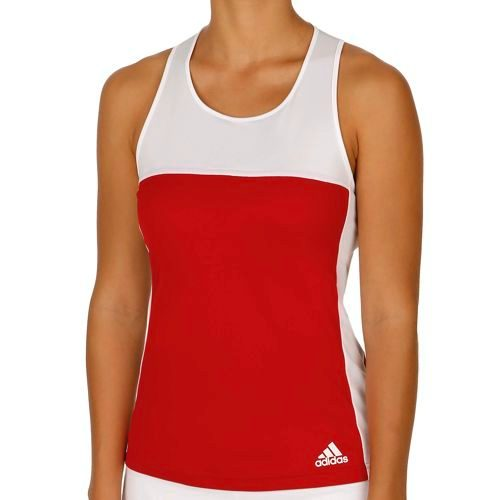 adidas T16 Clima Tank Top Women - Red, White