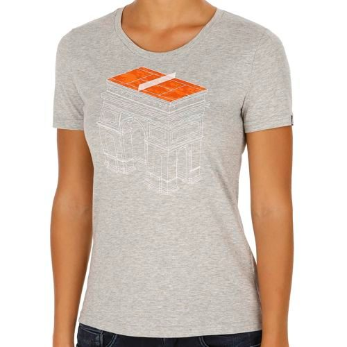 adidas Roland Garros Secret Court T-Shirt Women - Grey