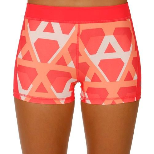 adidas Techfit 3 Inch Ball Shorts Women - Neon Red
