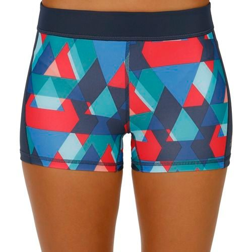 adidas Techfit 3 Inch Typo Print Ball Shorts Women - Multicoloured