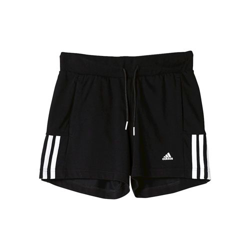 adidas Essentials Mid 3 Stripes Shorts Girls - Black, White