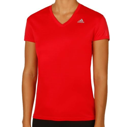 adidas Response Short Sleeve Women - Red, Silver