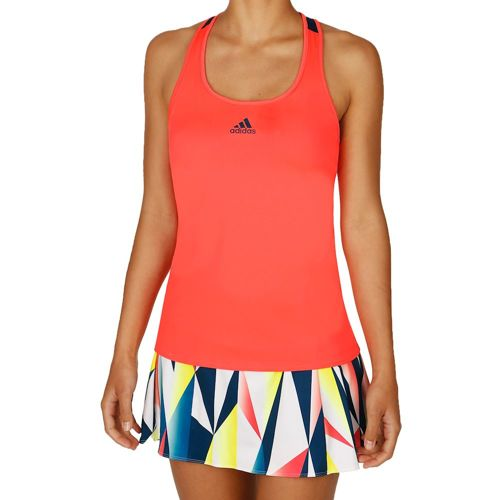 adidas Multifaceted Pro Tank Top Women - Neon Red, Dark Blue