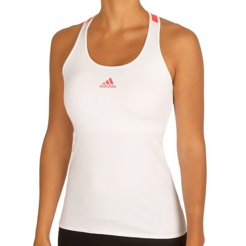 adidas Multifaceted Pro Tank Top Women - White, Neon Red