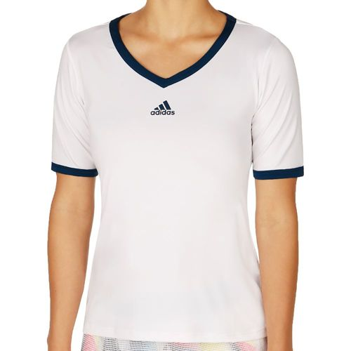 adidas Multifaceted Pro T-Shirt Women - White, Dark Blue
