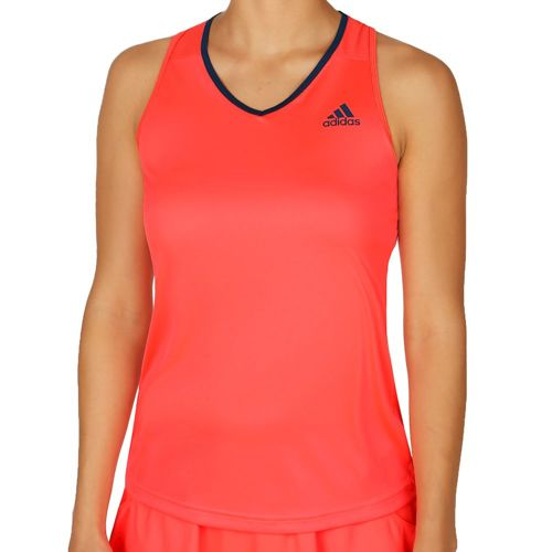 adidas Club Tank Top Women - Neon Red, Dark Blue