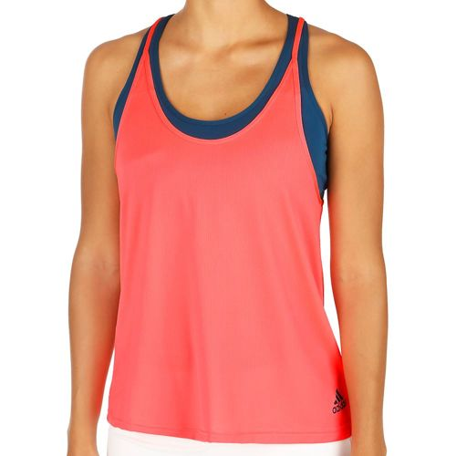 adidas Multifaceted Club Tank Top Women - Neon Red, Dark Blue
