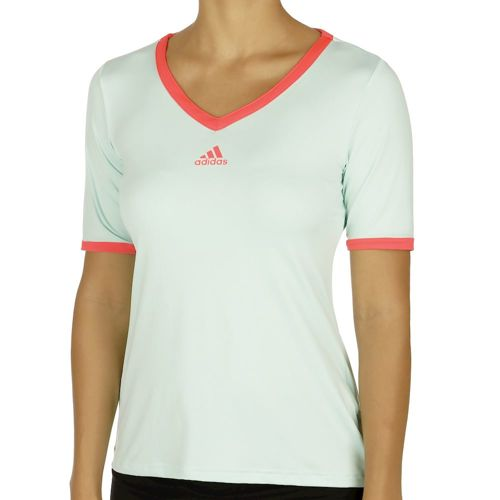 adidas Pro T-Shirt Women - Green, Neon Red