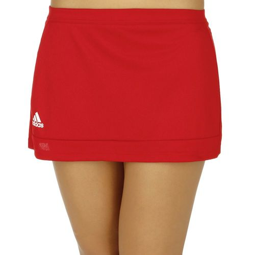 adidas T16 Skirt Women - Neon Red, White