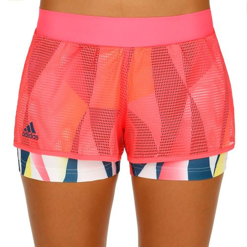 adidas Multifaceted Pro Shorts Women - Neon Red, Dark Blue