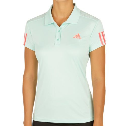 adidas Club Polo Women - Green, Neon Red