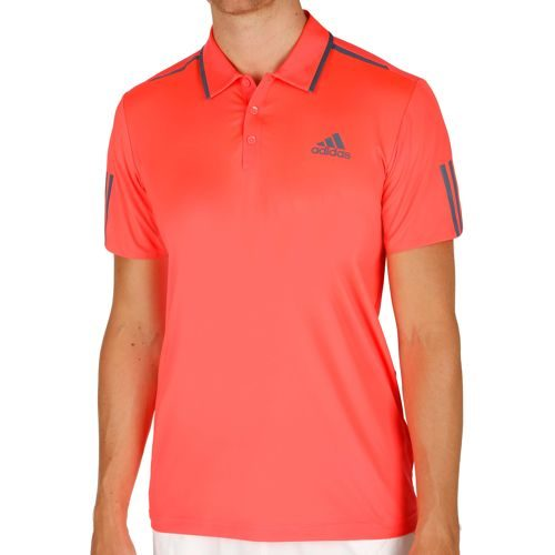 adidas Barricade Polo Men - Neon Red, Dark Blue
