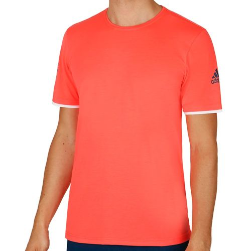 adidas Club T-Shirt Men - Neon Red, Dark Blue