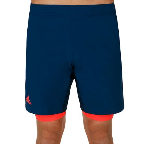 adidas Multifaceted Pro Bermuda Shorts Men - Dark Blue, Neon Red