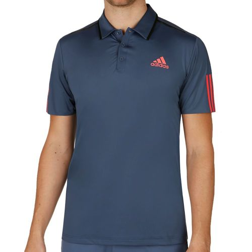 adidas Barricade Polo Men - Dark Blue, Neon Red
