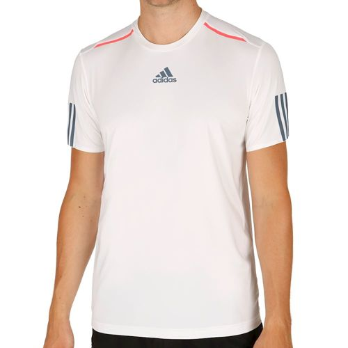 adidas Barricade T-Shirt Men - White, Dark Blue