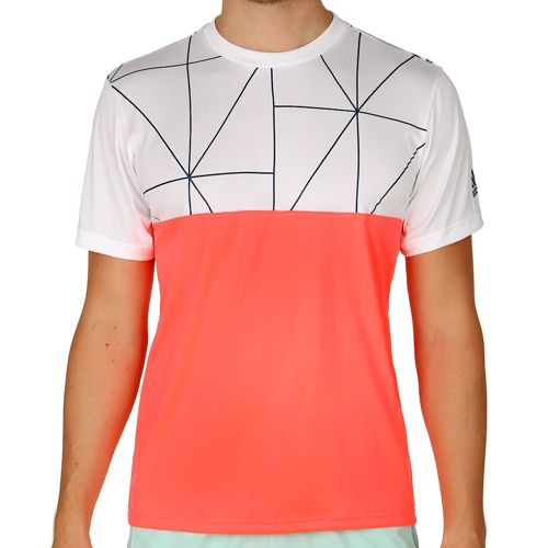 adidas Club T-Shirt Men - Neon Red, White