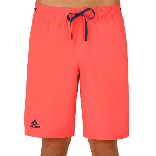 adidas Multifaceted Club Bermuda Shorts Men - Neon Red, Dark Blue