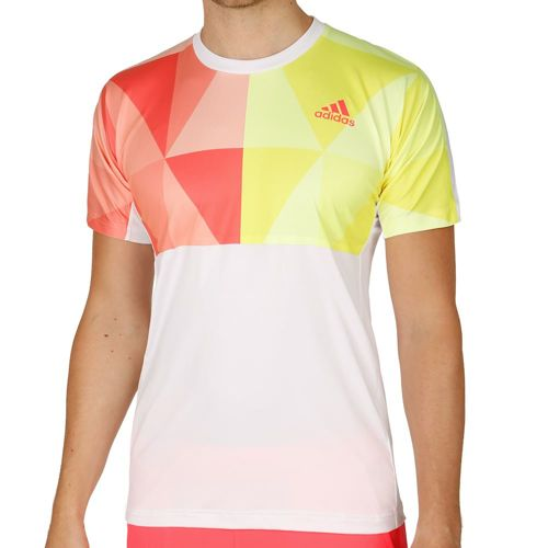 adidas Pro T-Shirt Men - White, Neon Red